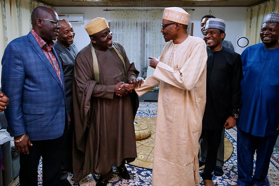 Okorocha, Yari brief Buhari after turbulent APC ward congress
