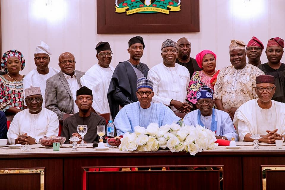 Buhari hosts Tinubu, APC South West leaders to dinner