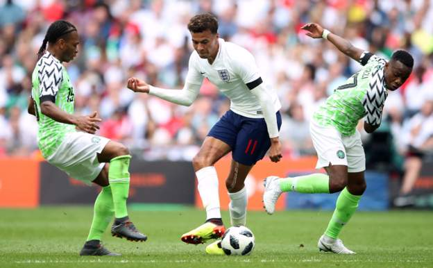 In-form England beat Nigeria 2-1 at Wembley