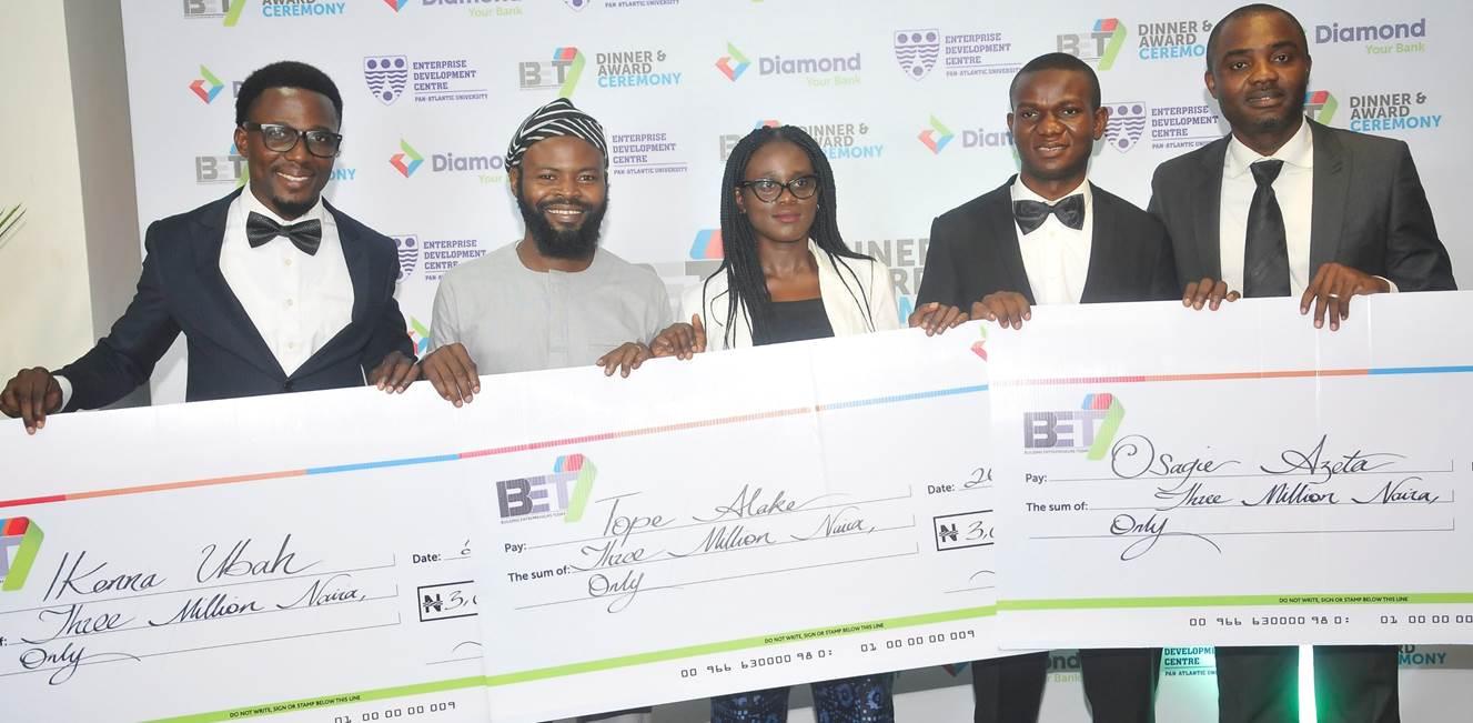 Photo News: Diamond bank rewards entrepreneurs with N15m through BET 7