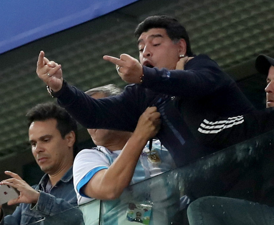 Maradona Faces World Cup Ban Over Shameful Obscene Gesture, Insults After Late Argentina Win