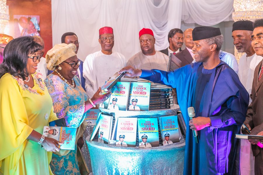 VP Osinbajo graces the 70th birthday and book launch of R/Admiral Peter Ebhaleme.