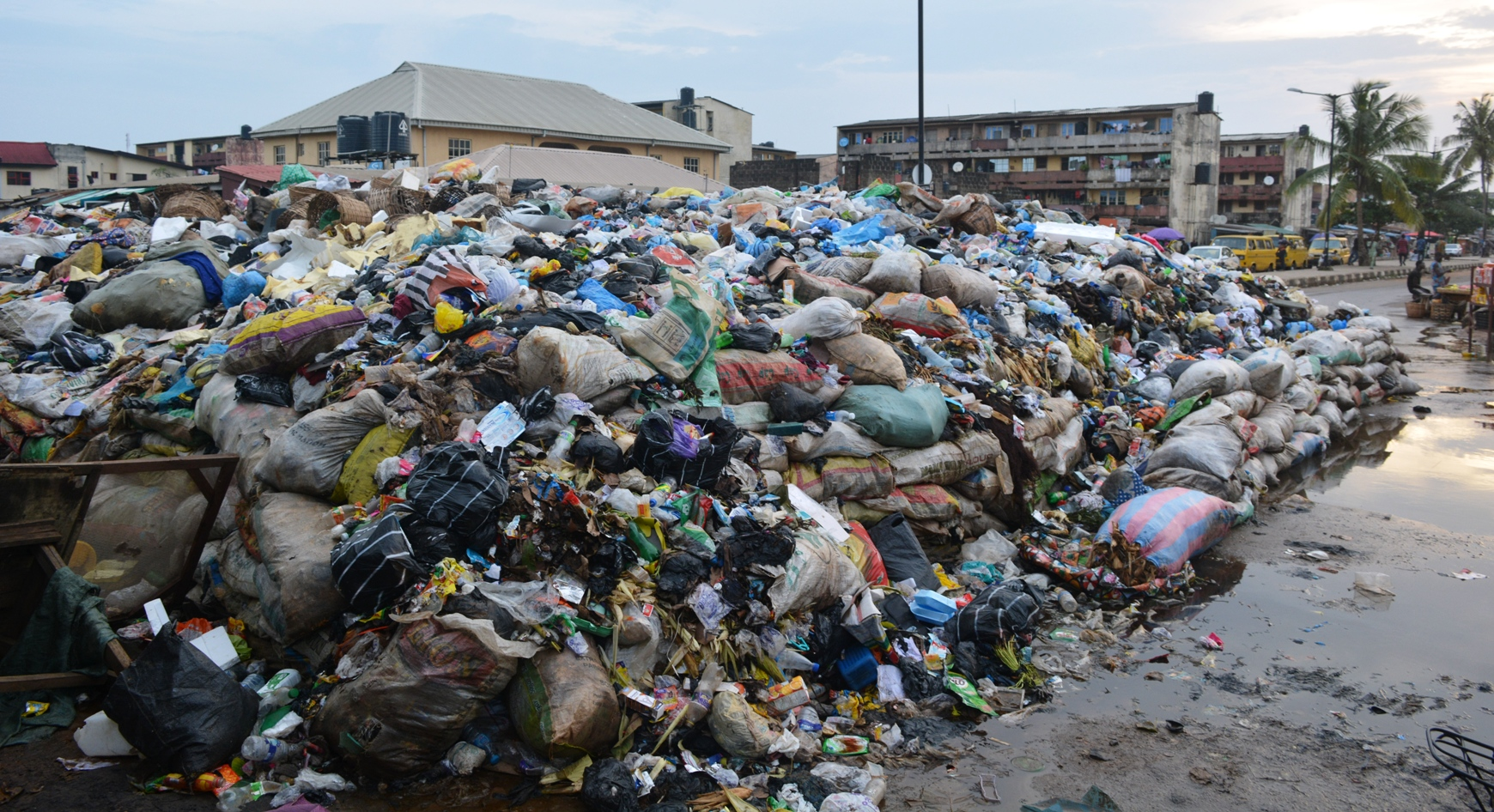 Heap of Refuse on 41 Road Gowon Estate, in Lagos on Wednesday (11/07/18)