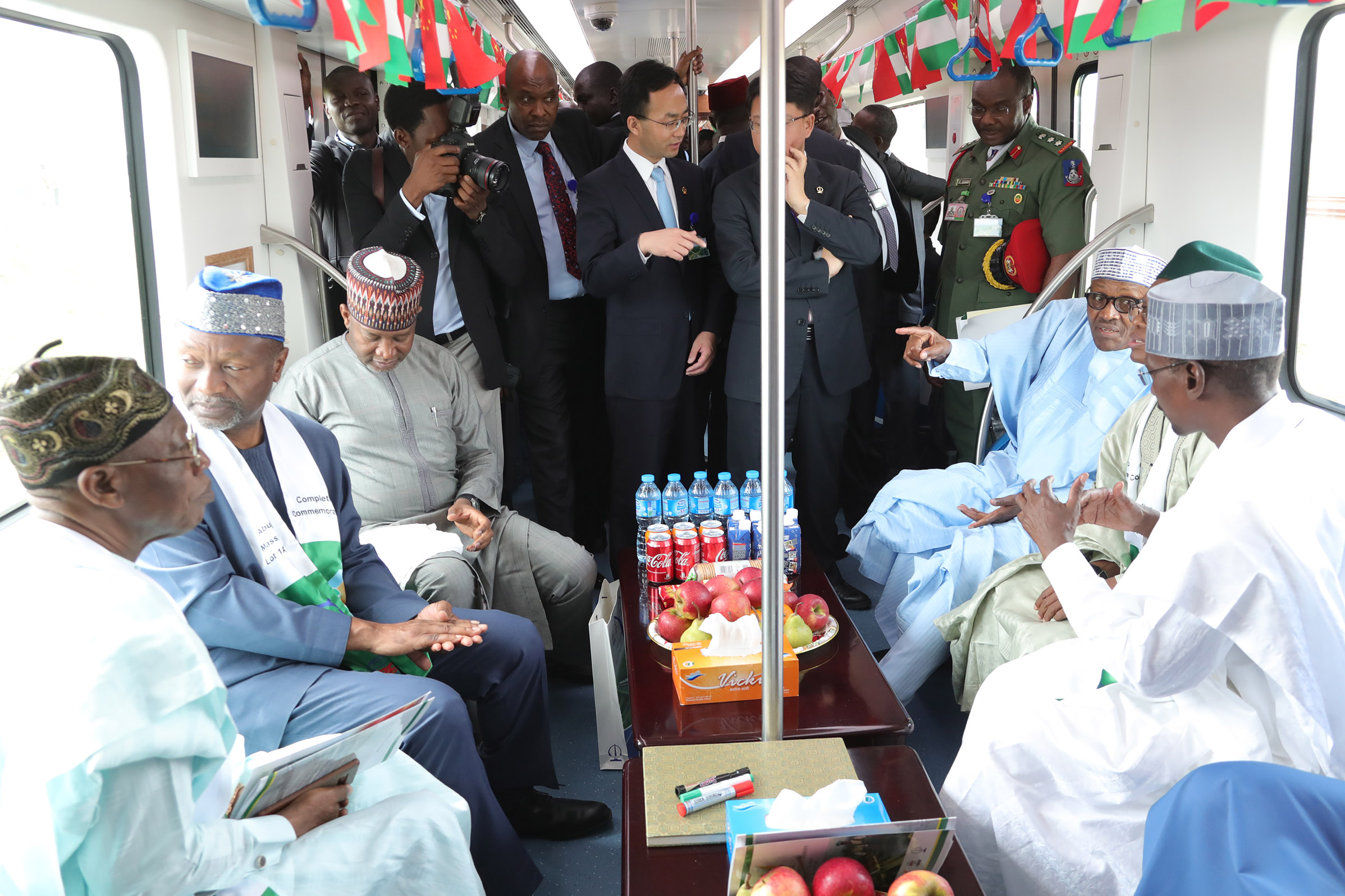 The Day in Pictures: President Muhammadu Buhari Commissions Abuja Light Rail