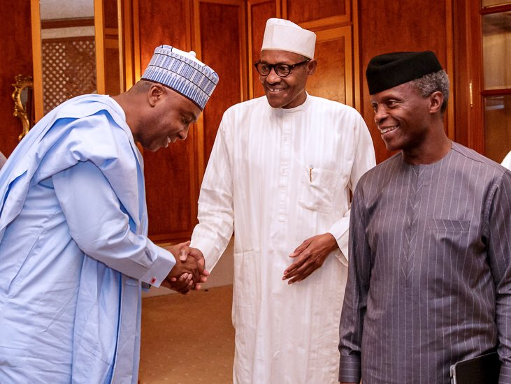 The Day in Pictures: Saraki meets with Buhari, Osinbajo at the Villa