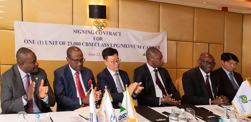 Temile, Hyundai Heavy Industries sign $120m Ship Building Contract for Nigerian LPG Market