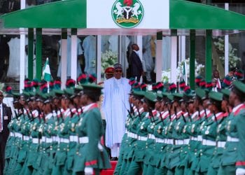 PRESIDENT BUHARI ATTENDS NIGERIAN'S 58TH INDEPENDENCE AA. President Muhammadu Buhari as Nigerian Marks 58th Independence Anniversary with a parade of Military hardware at theEagle Square, Abuja. OCTOBER 1 2018. PHOTO; SUNDAY AGHAEZE