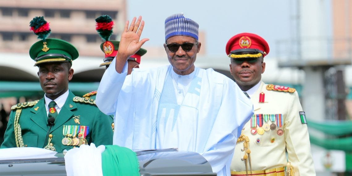 PRESIDENT BUHARI ATTENDS NIGERIAN'S 58TH INDEPENDENCE. President Muhammadu Buhari on a motorcade as Nigerian Marks 58th Independence Anniversary with a parade of Military hardware at theEagle Square, Abuja. OCTOBER 1 2018. PHOTO; SUNDAY AGHAEZE