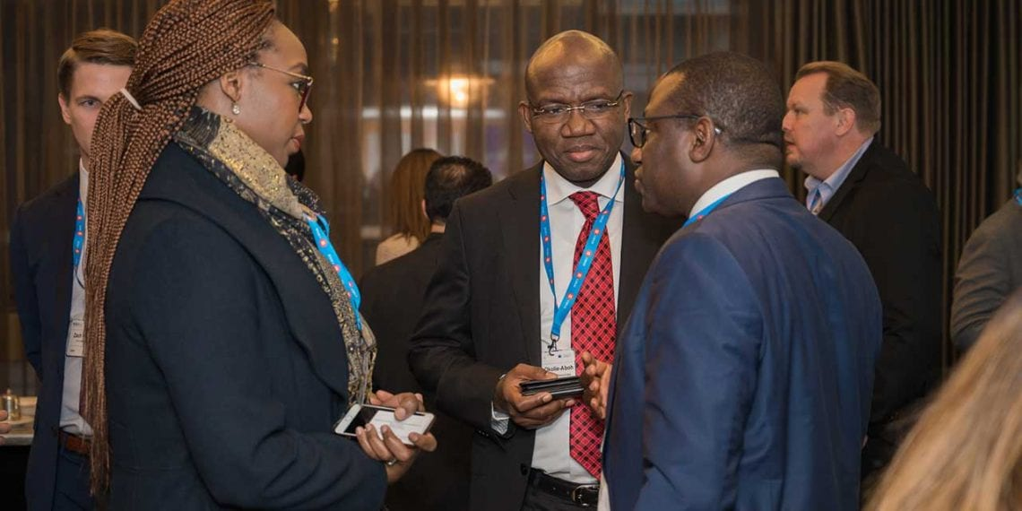 Group General Manager Corporate Planning & Strategy of NNPC, Mr Bala Wunti, in a discussion at the sidelines of the world event.