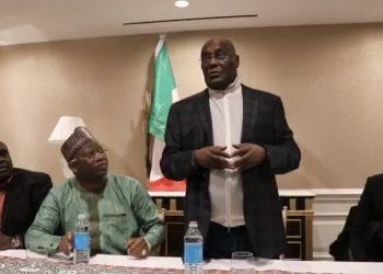 Atiku at a town hall meeting in Washington