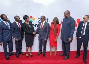 L-R: Group Head, Corporate Bank, United Bank for Africa (UBA) Plc, Akinyemi Muyiwa; Group Head, Online Digital Banking, UBA Plc, Austine Abolusoro; Country Director, Google Nigeria, Juliet Ehimuan-Chiazor; Executive Director/ Group COO, UBA Plc,  Chukwuma Nweke; Group Head, Marketing, UBA Plc,  Dupe Olusola; Head, NBU Partnerships SSA, Google Nigeria, Saidu Abdullahi; and Group Executive, Digital & Consumer Banking,  UBA Plc, Anant Rao,  at the launch of  Google Station, a Collaboration between Google and UBA  to provide free, high-speed Wi-Fi hotspots at UBA Business Offices for the use of customers and publics, starting with 11 UBA branches in Lagos, at the UBA Head Office, Lagos yesterday.