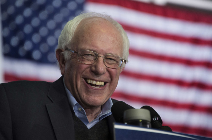US Senator and Democratic Presidential Candidate Bernie Sanders speaks during a campaign event at the University of Northern Iowa in Cedar Falls, Iowa, January 24, 2016, ahead of the Iowa Caucus.   / AFP / JIM WATSON        (Photo credit should read JIM WATSON/AFP/Getty Images)