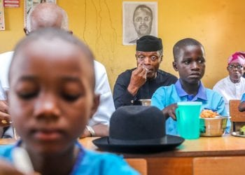 Osinbajo in Ondo primary school