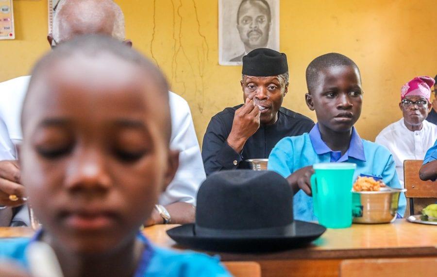 Osinbajo in Ondo primary school