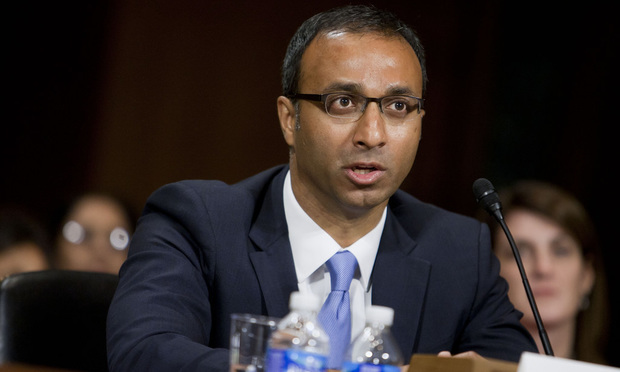 Amit Priyavadan Mehta, during his confirmation hearing before the Senate Judiciary Committee, to be United States District Judge for the District of Columbia. September 17, 2014.