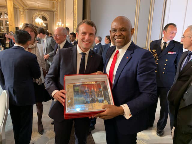 President Macron and Elumelu