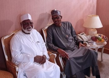 PRESIDENT BUHARI RECEIVES FMR HEAD OF STATE IN MAKKAH. President Muhammadu Buhari received Chairman National Peace Accord Committee and Former Head of State Gen. Abdulsalami Abubakar in Makkah during the OIC Summit June 2 2019