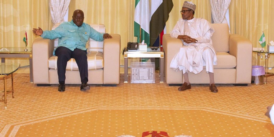 PRESIDENT BUHARI RECEIVES GHANA PRESIDENT AKUFO-ADDO 6. President Muhammadu Buhari receives Prsident of Ghana, H.E Nana Akufo-Addo to a private visit at the Residence, State House Abuja. PHOTO; SUNDAY AGHAEZE. JUNE 5 2019