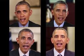 Deepfakes of Obama...Left is the real while right is the fake