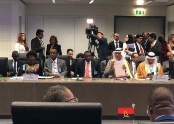 From Left Nigeria's Perm Sec,   Petroleum ministry, Dr. Folasade Yemi-Esan, OPEC Governor Dr Omar Ibrahim, Representing OPEC National representative, Mele Kyari (representing NR), Mr. Bala Wunti, Group General Manager, Corporate Planning and Strategy.