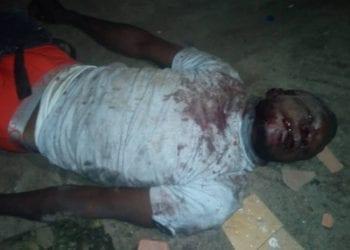 Armed robber apprehended in Lagos.