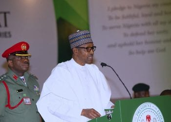 PRESIDENT BUHARI DECLARES OPEN PRESIDENTIAL RETREAT F0R MINISTERS A. President Muhammadu Buhari addressing the Ministers Designates during the Opening ceremony of the Presidential retreat for Ministers Designate, Presidential Aides and other Top Government Functionaries held at the State House Abuja. PHOTO; SUNDAY AGHAEZE. AUG 19 2019