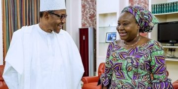 The Acting Head of Civil Service of the Federation, Dr Folashade Yemi-Esan, at the Villa with PMB.