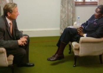 Stuart Ramsay interviewing Robert Mugabe in 2004