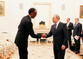 Paul Kagame signs Nuclear deal contract with Russia. Credit photo - James Hall