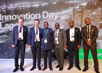 From L-R: Albert Fuchet, Cluster President, Anglophone Africa, Schneider Electric; Christophe Begat, Managing Director, Anglophone West Africa, Schneider Electric, Alhaji Bola Azeez, CEO, Bolamark Engineering Limited, Mojola Ola, Head, Building Business, Anglophone West Africa, Schneider Electric; Nurudeen Oyedeji, Channel Manager, Anglophone West Africa; Ifeanyi Odoh, Head, Offer Marketing and Business Development, Anglophone West Africa, Schneider Electric