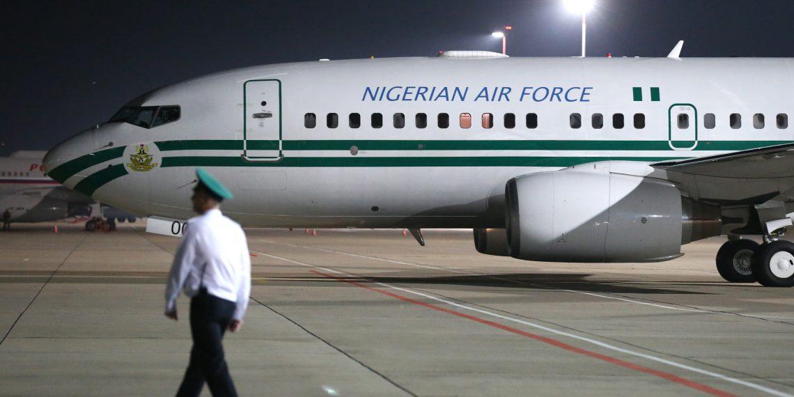 Nigeria's presidential Air Force One aircraft in Sochi
