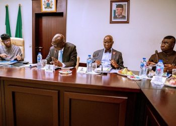 From left, Vice President, Professor Yemi Osinbajo; Deputy Chief of Staff, Mr Adeola Rahman Ipaye; Minister of Works and Housing, Mr Babatunde Fasola; and, Minister of State for Budget and National Planning, Prince Clem Ikanade Agba at the meeting of the Board of National Boundary Commission, on Tuesday in Abuja, presided over by the Vice President. Photo: FMBNP