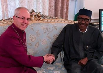 President Buhari and Archbishop of Canterbury, Most Revd Justin Portal Welby