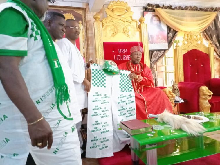 Delta monarch inaugurated as Grand Patron of Nigeria Football Supporters Club