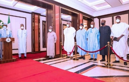 Pictures of the late Chadian President Idriss Deby Itno's last visit to President Muhammadu Buhari on March 27, 2021
