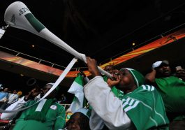 Nigerian in Diaspora donates six brand new trumpets to Nigeria Football Supporters Club