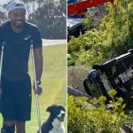 Golf icon, Tiger Woods, out in crutches after February lone accident